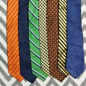 Nautica 7 Tie Lot 100% Silk